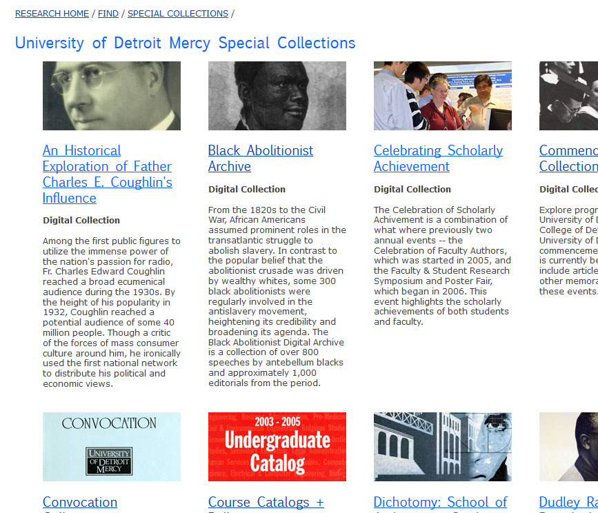 University of Detroit Mercy Digital Special Collections