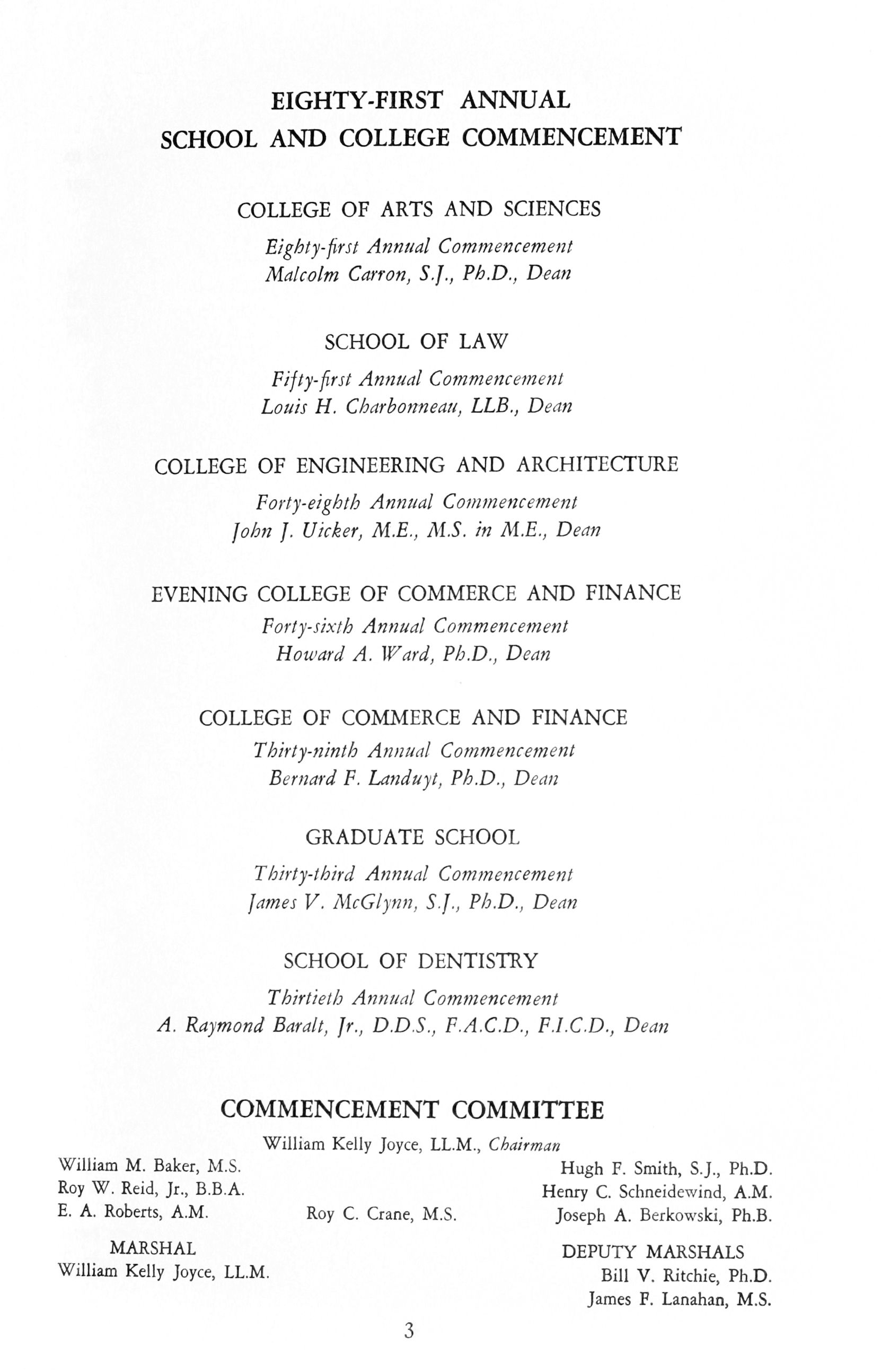 81st Annual Commencement Exercises University of Detroit Memoria