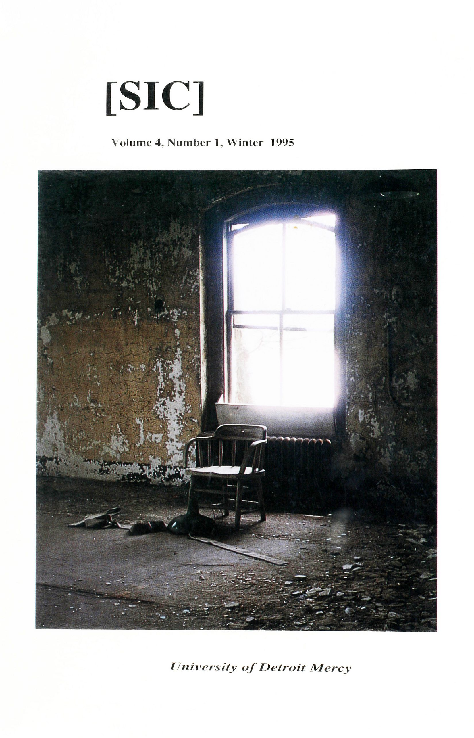 [SIC] Volume 4, Number 1, Winter 1995 University of Detroit Mercy