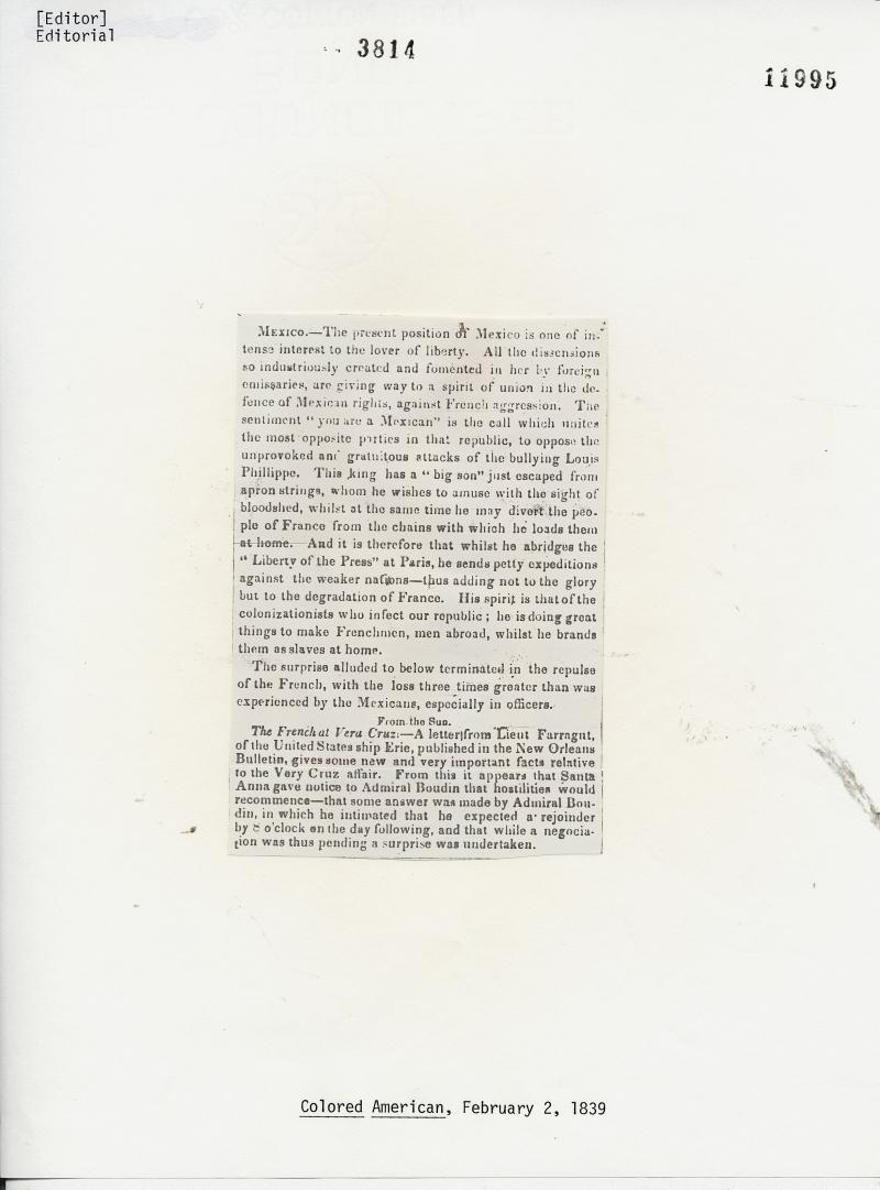 Colored American Newspaper, February 2, 1839